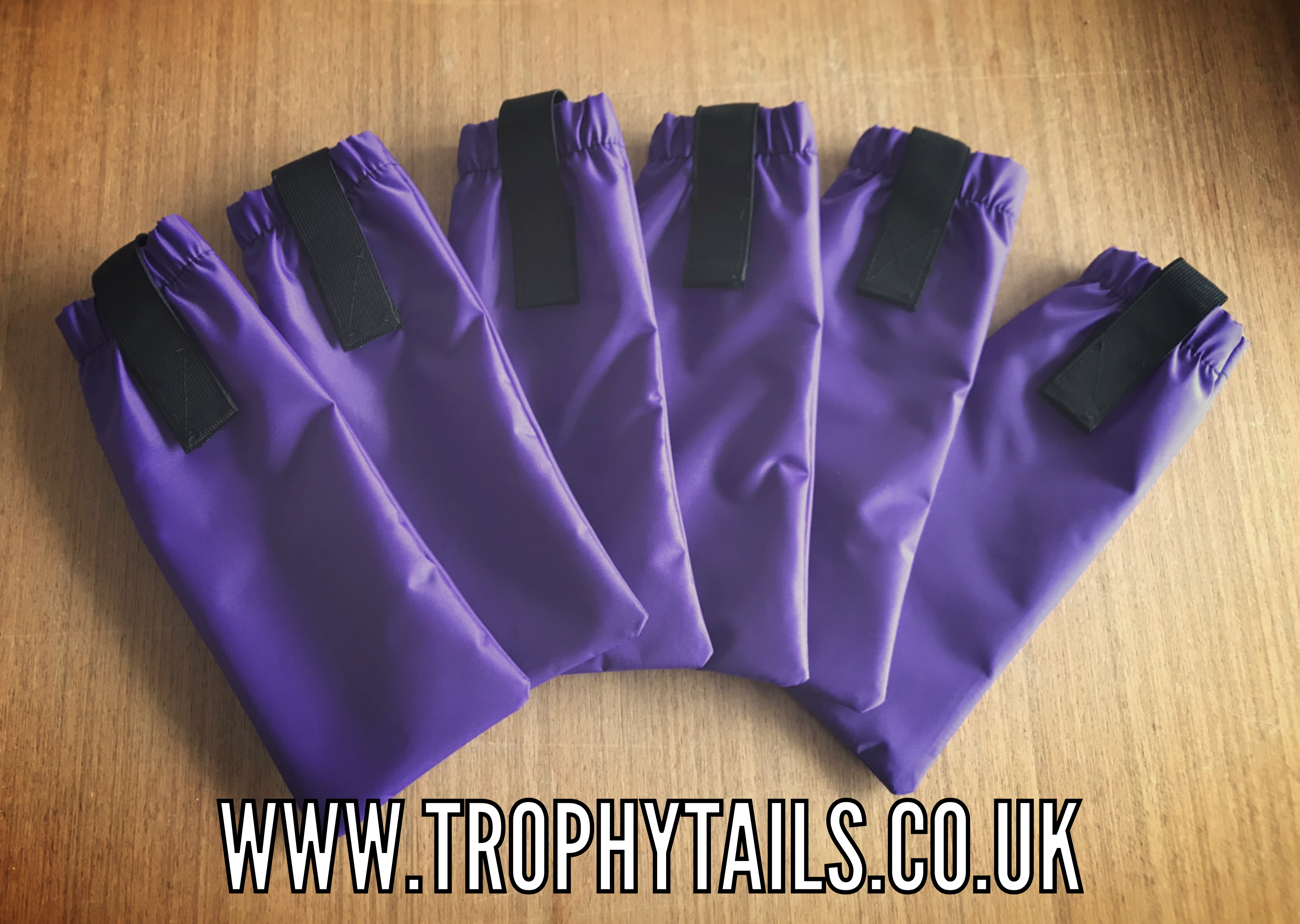 Heavy Duty Mane Bags Set Of 6 - Purple