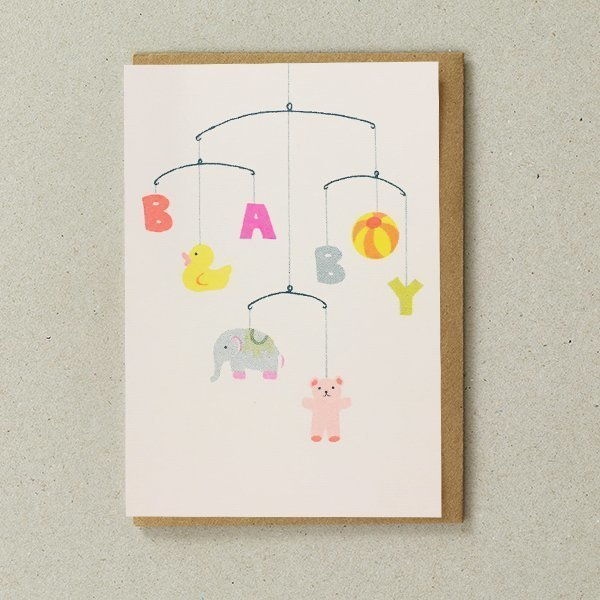 New Baby Card with Mobile by Petra Boase