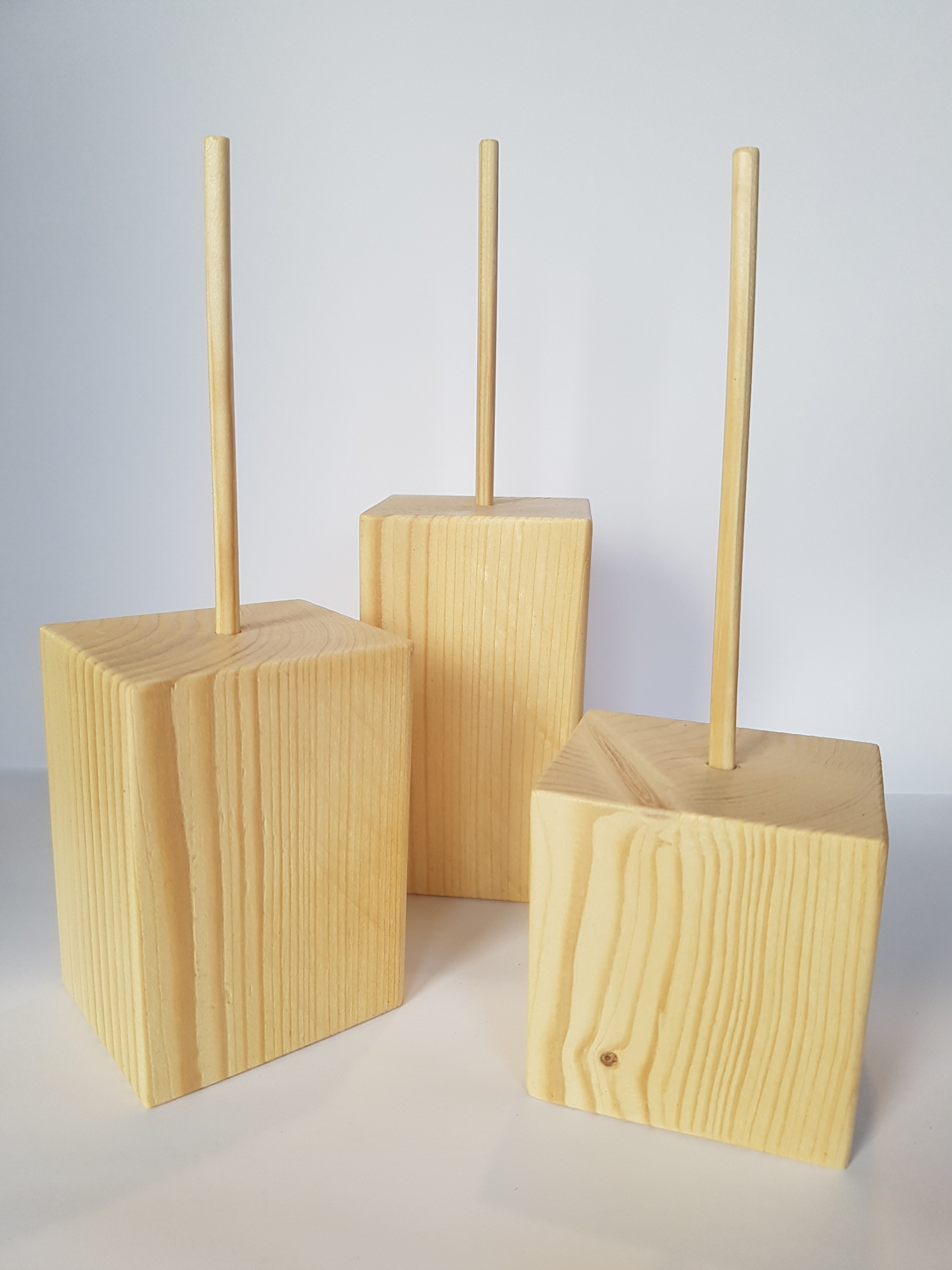3 Tier Wooden Block Display Stands