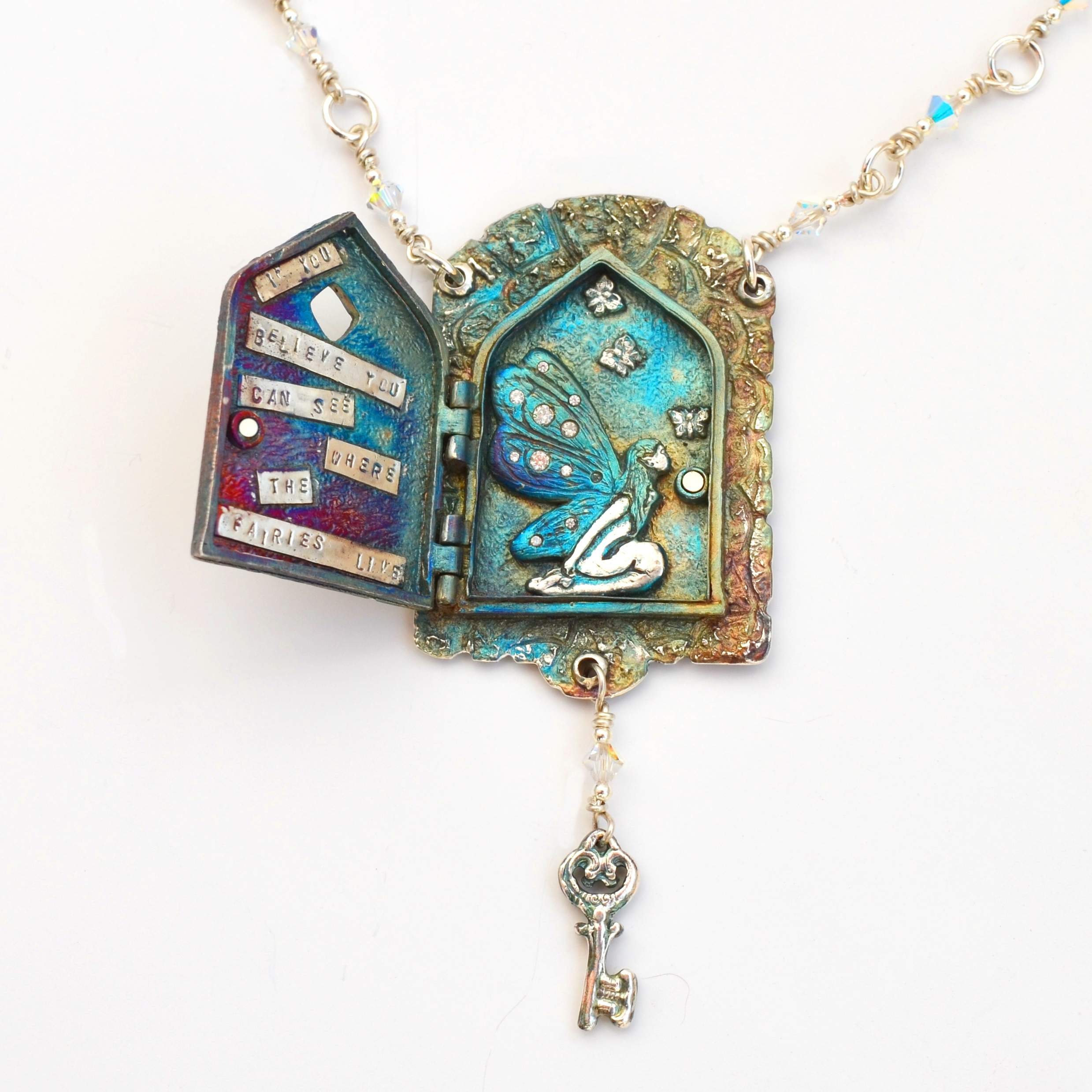 Fairy Doors Locket by Tracey Spurgin of Craftworx Jewellery Workshops