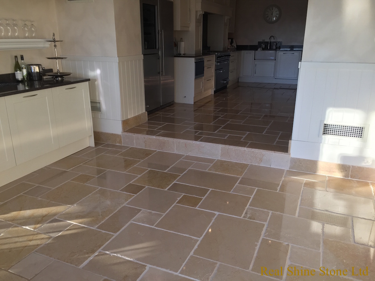 Limestone grout cleaning