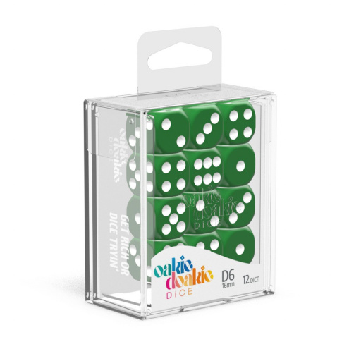 Solid Green 36 x D6 Dice