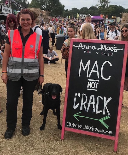 Drug detection dog