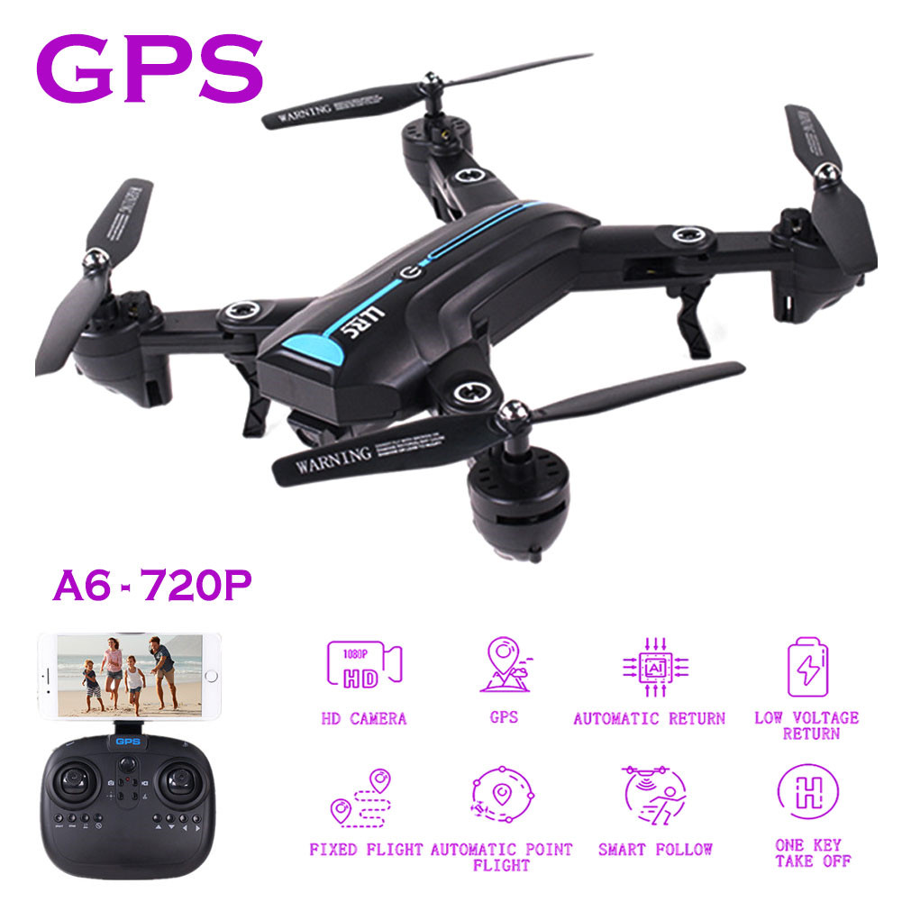 A6 GPS Drone With HD 720P Wide-angle High