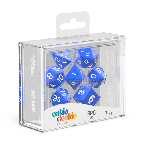 Solid Blue RPG Dice Set
