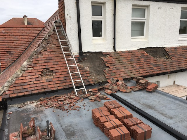 DC Roof Care new roof in Troon Before the work