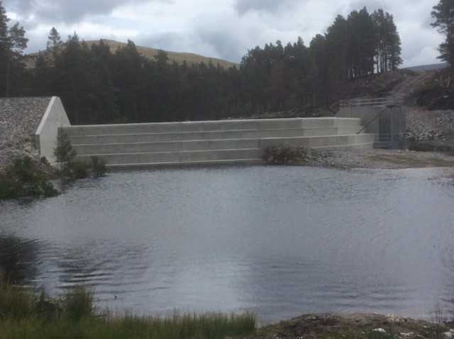 Pattack Hydro Electric Scheme - the completed dam