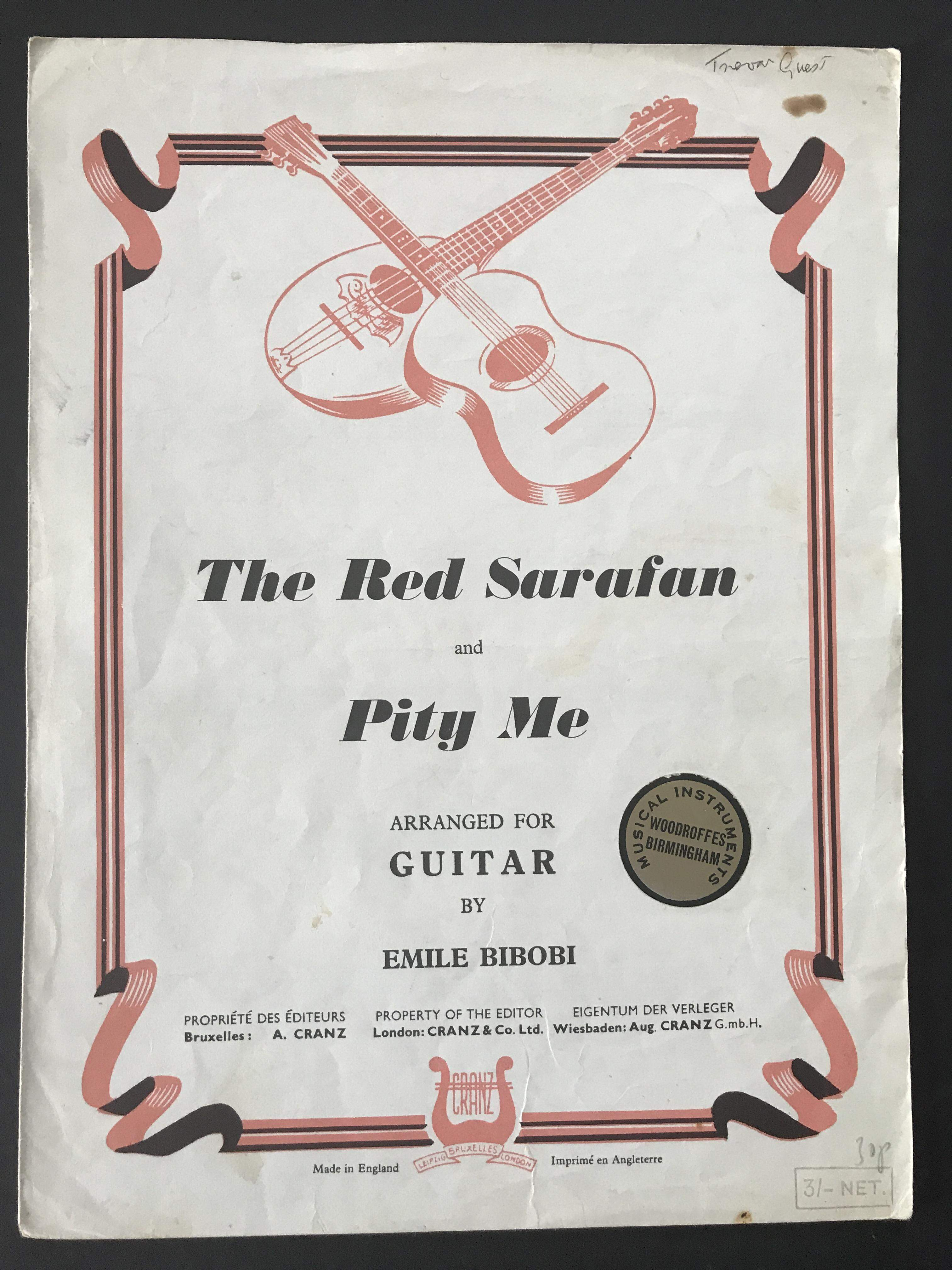 The Red Sarafan & Pity Me arr. by Emile Bibobi