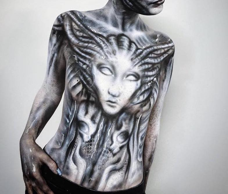 The Prosthetics Event 2019 - Giger Themed Body Painting