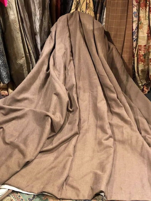 Heavy Mink Blackout lined Pinch Pleat Curtains W544 D234