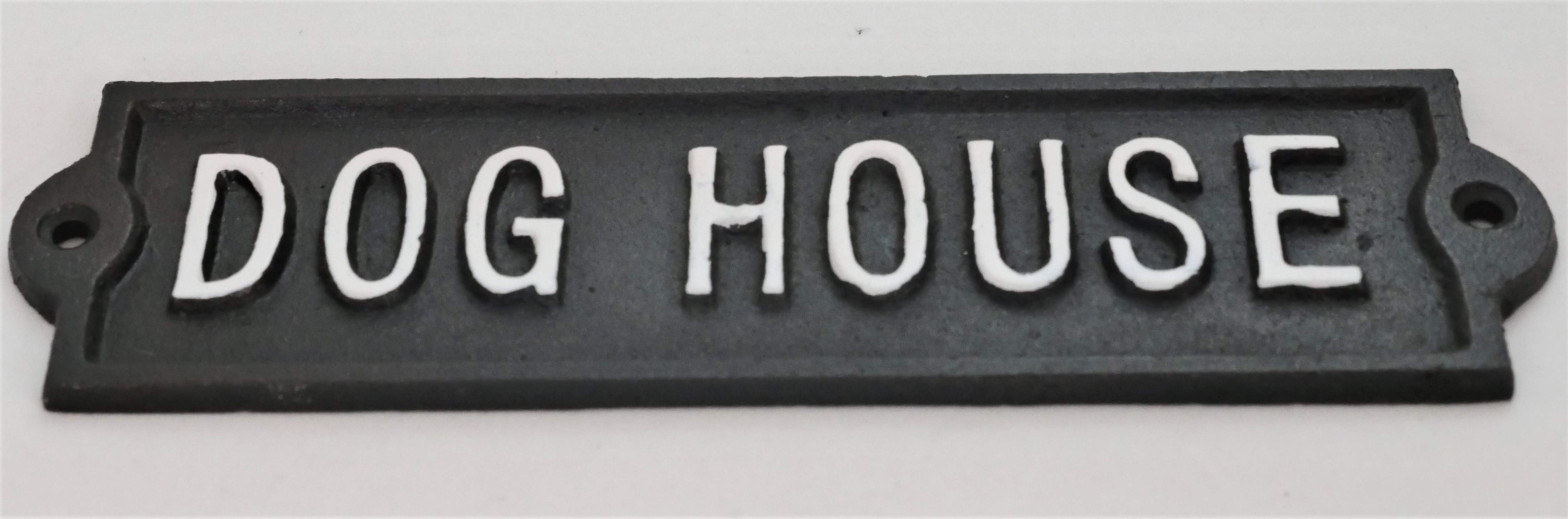 Cast iron wall sign Dog House