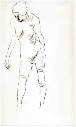 Ludovic Rodo Pissarro - Nude facing downwards
