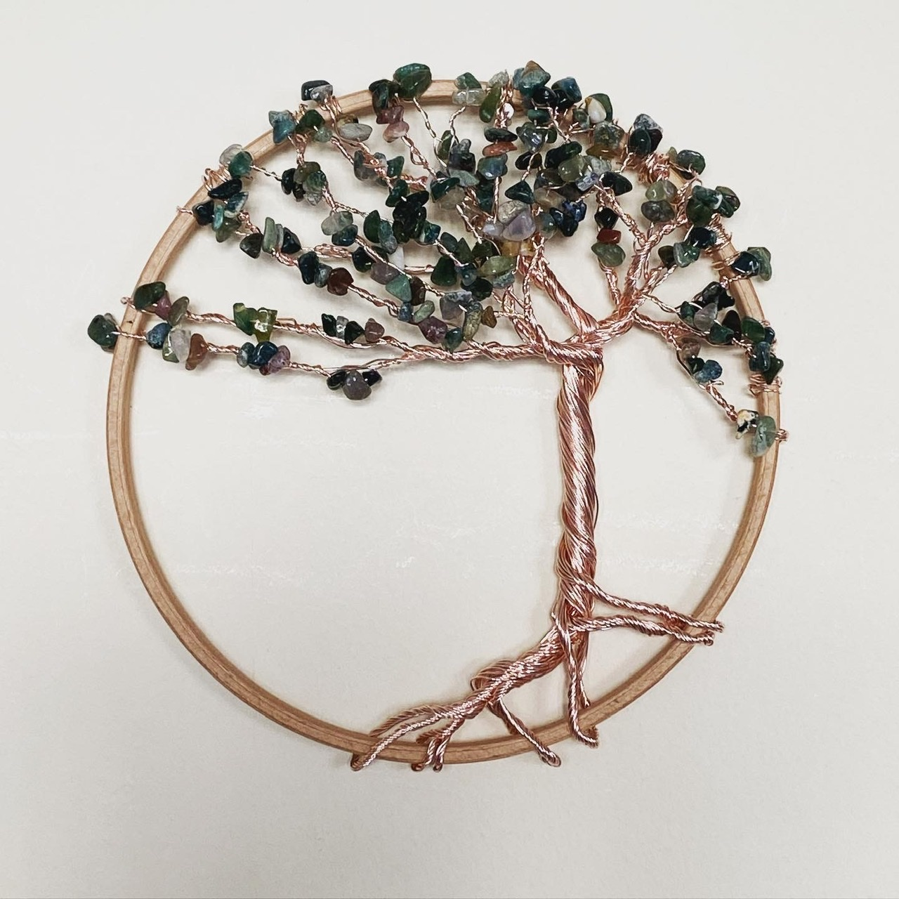 Rose Gold and Indian Agate tree of life
