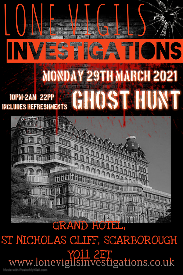 Grand Hotel Scarborough Monday 29th March 2021