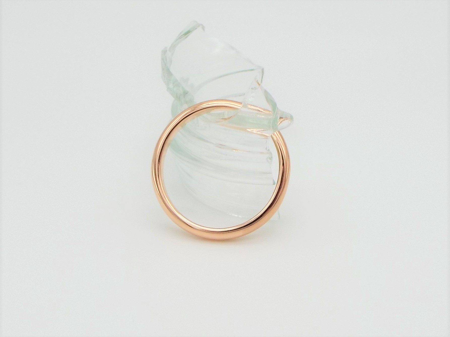 3mm D shaped 9ct Rose Gold Wedding Ring