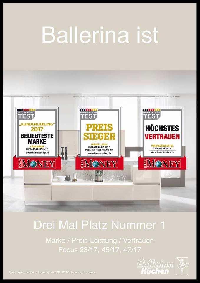 ballerina kchen preise deutschland test und focusmoney besttigen ist nicht nur die beliebteste. Black Bedroom Furniture Sets. Home Design Ideas