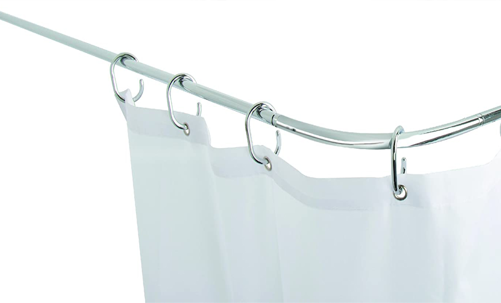 Tubular 'U' / 'L' Shaped Shower Rail - Chrome