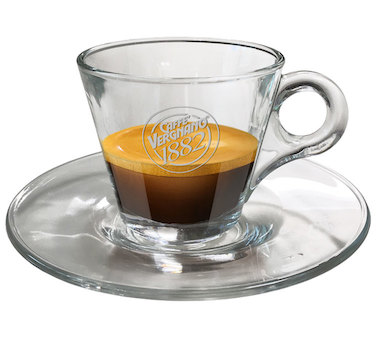 Vergnano Glass Espresso Cups Box of 6