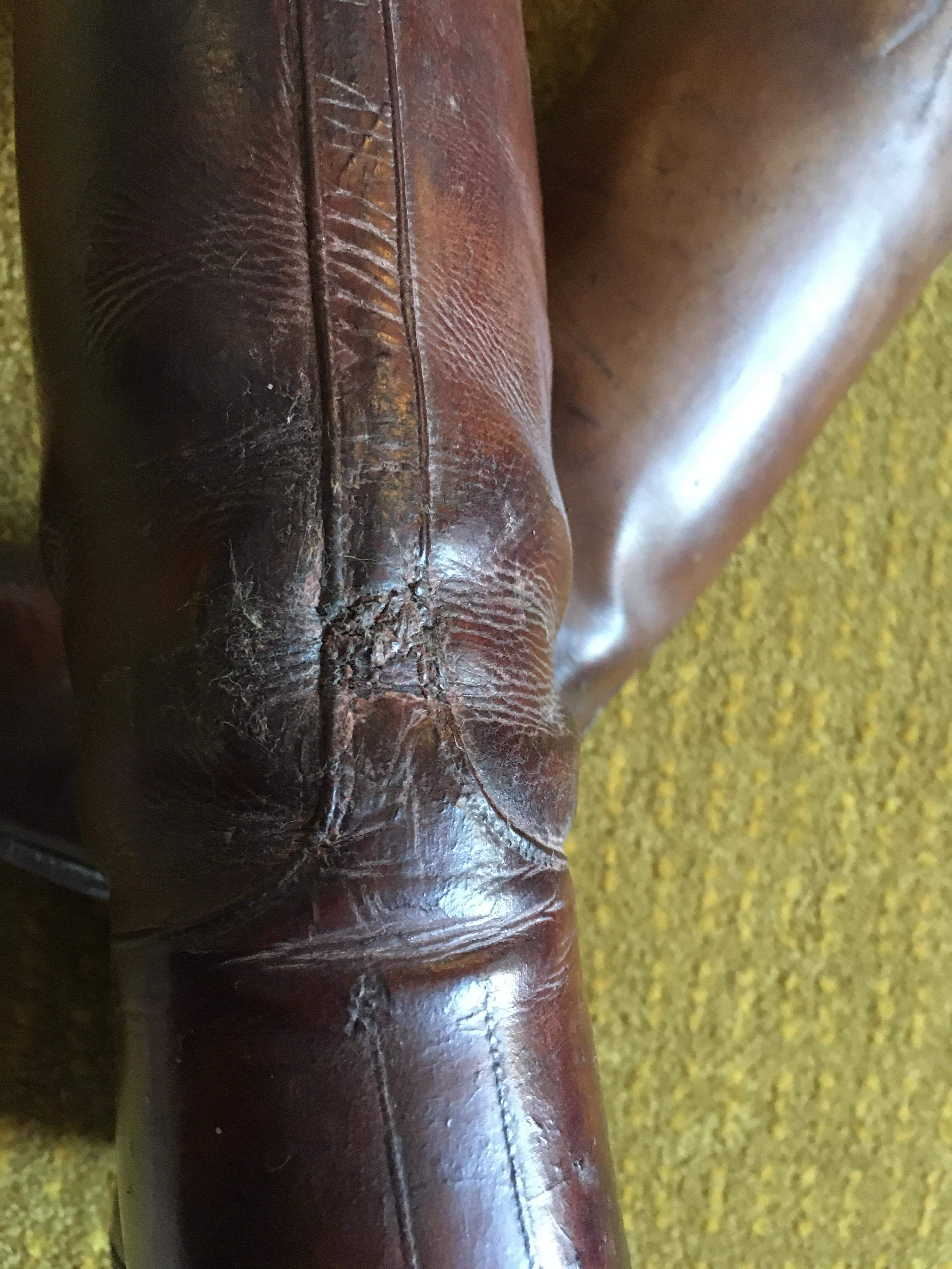 Pair of Brown Riding Boots and Trees early 20th Century RESERVED