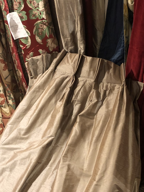 Long Mink Silk Pinch Pleat Interlined Curtains W200 D262