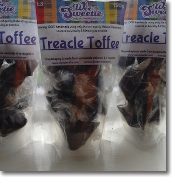 Three bags of Wee Sweetie's delicious treacle toffee