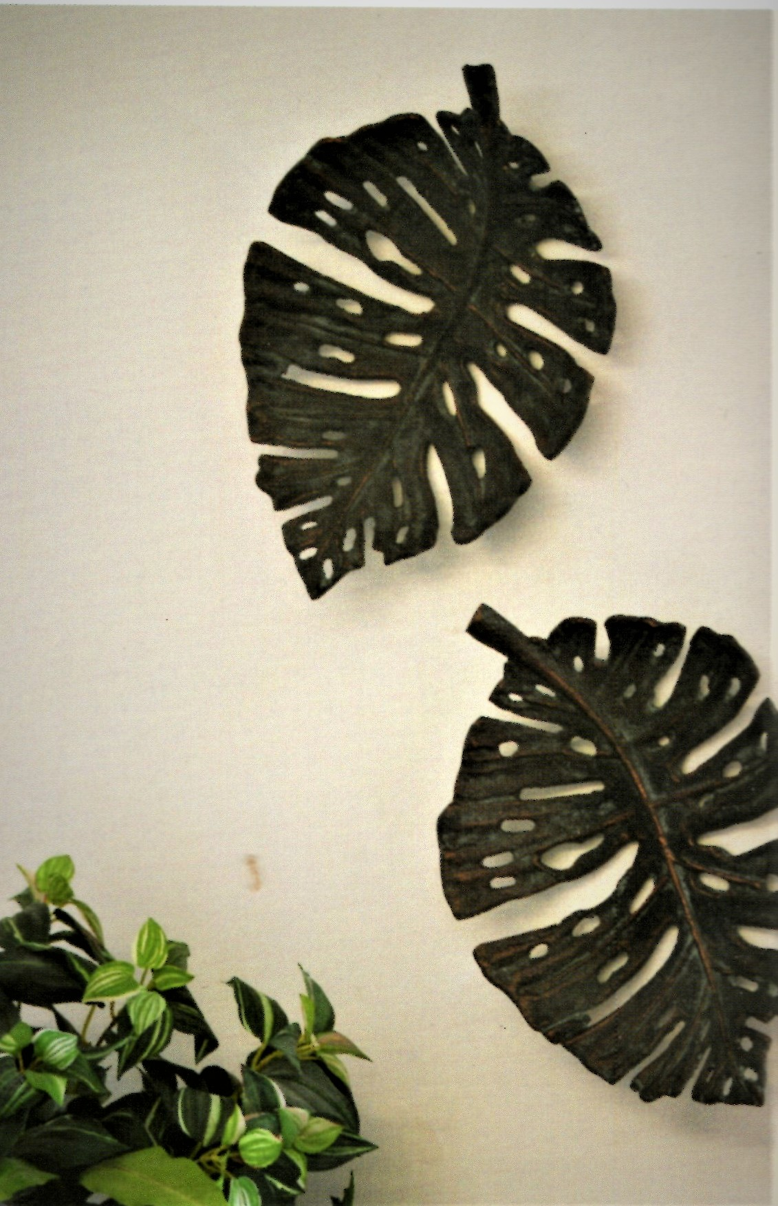 Palm leaf dish or wall art.