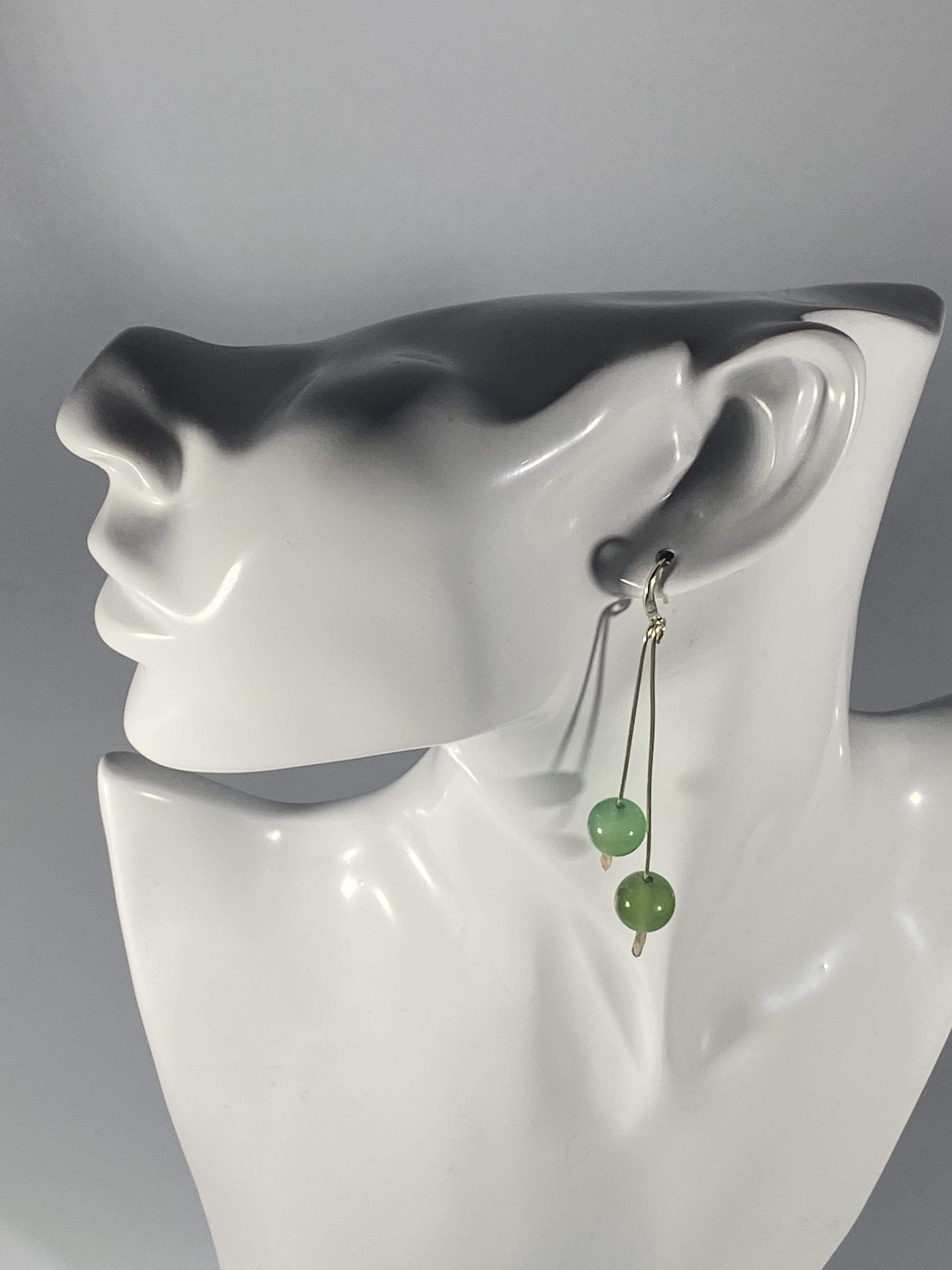 Beaded Droplet Earrings