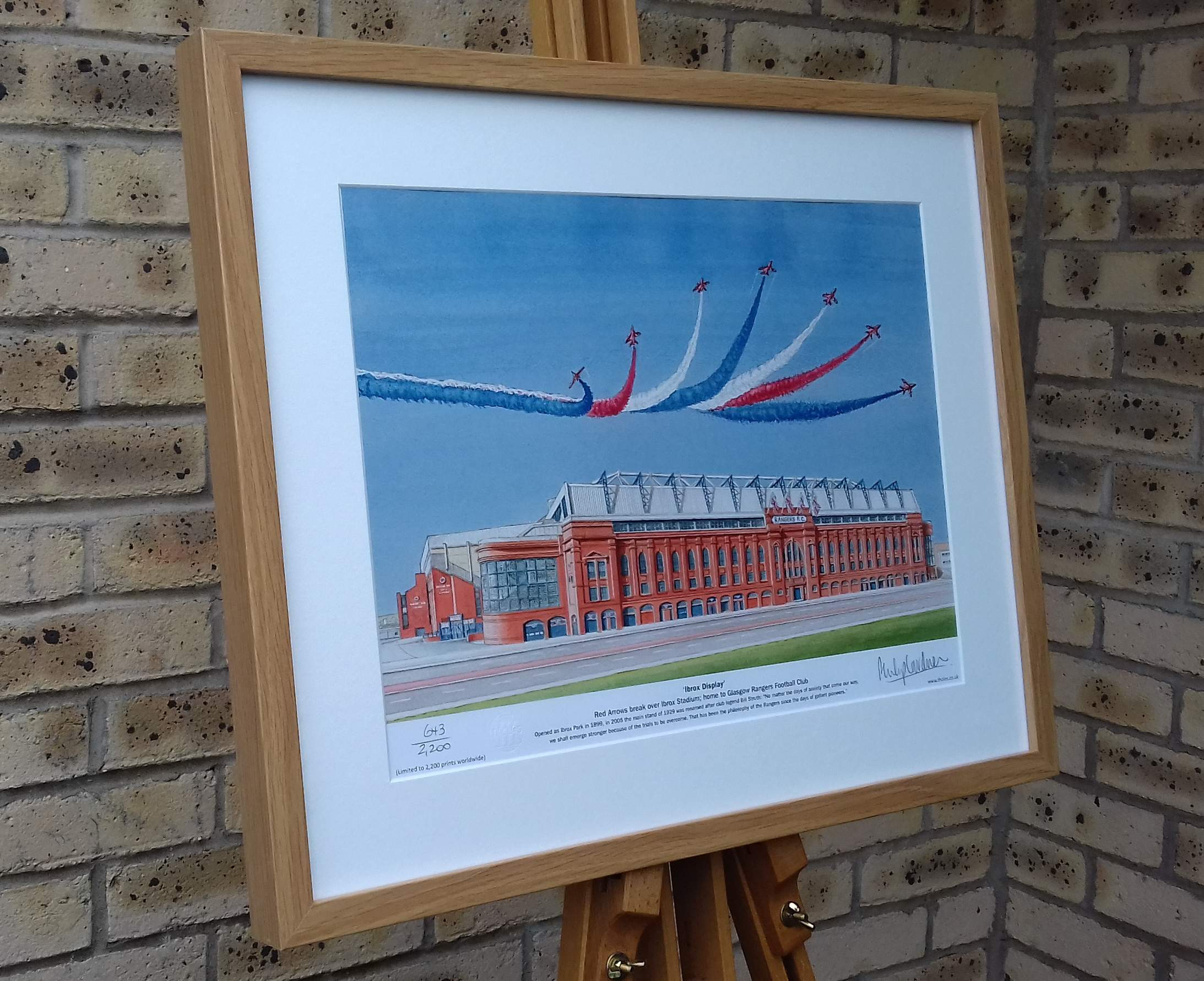 Framed 'Ibrox Display' Rangers FC fine art print