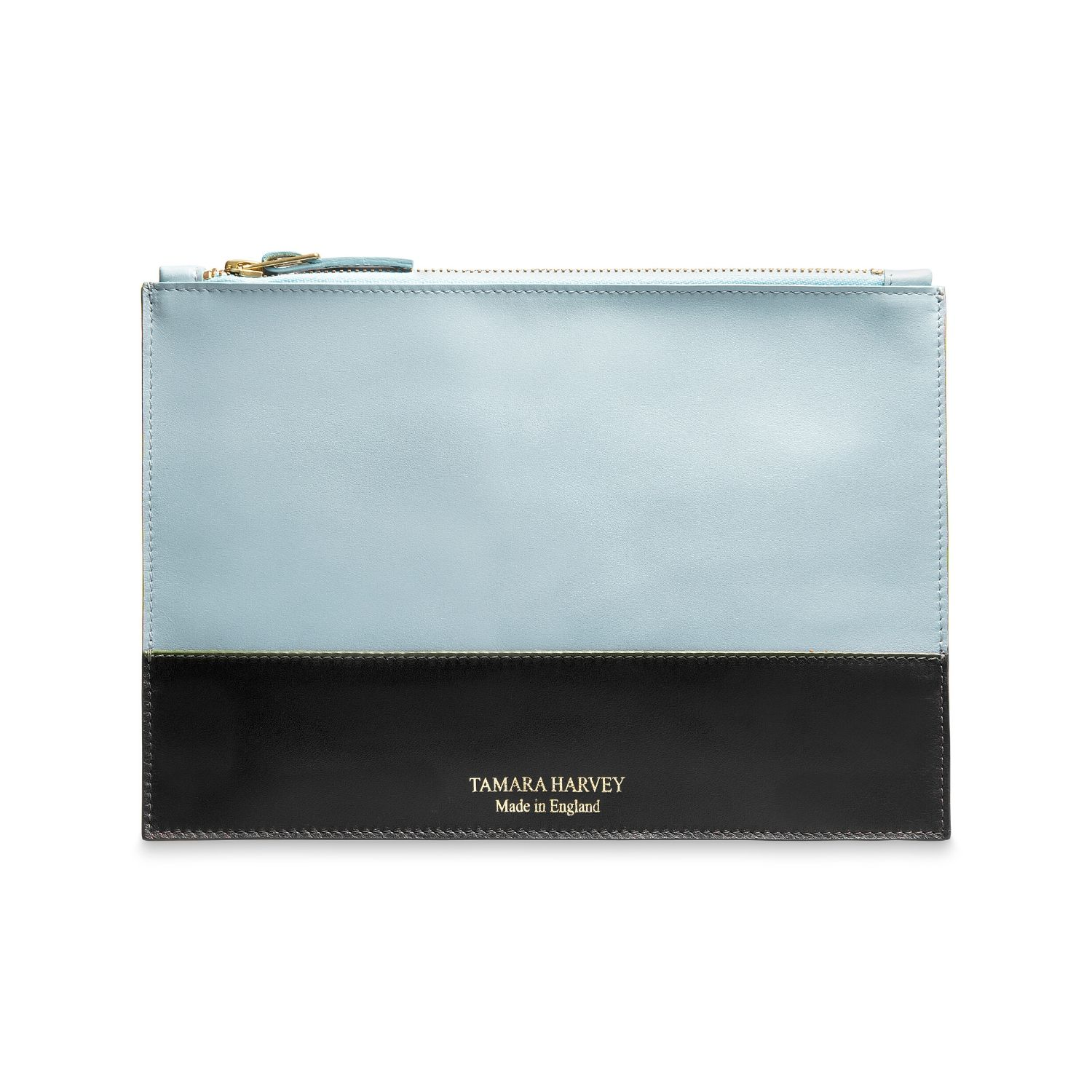 Duck Egg Blue Leather Zip Pouch Tamara Harvey