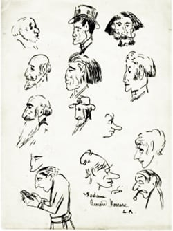 Ludovic Rodo Pissarro - Studies of amusing faces