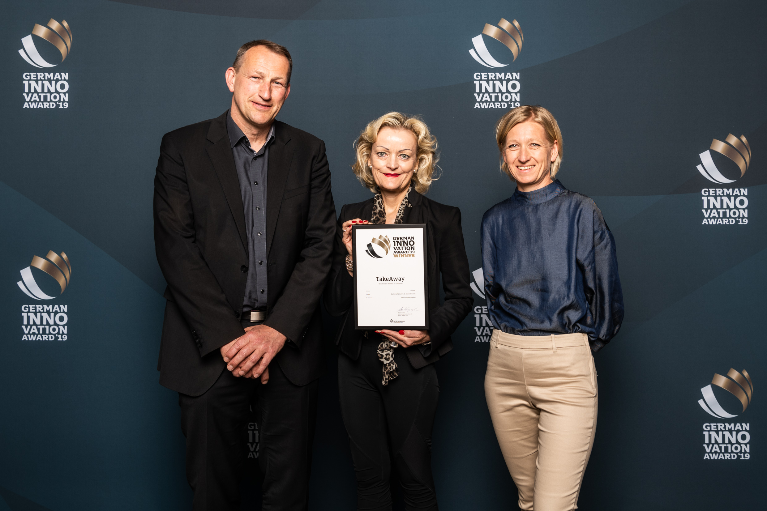 Ballerina Küchen wins The German Innovation Award 2019.