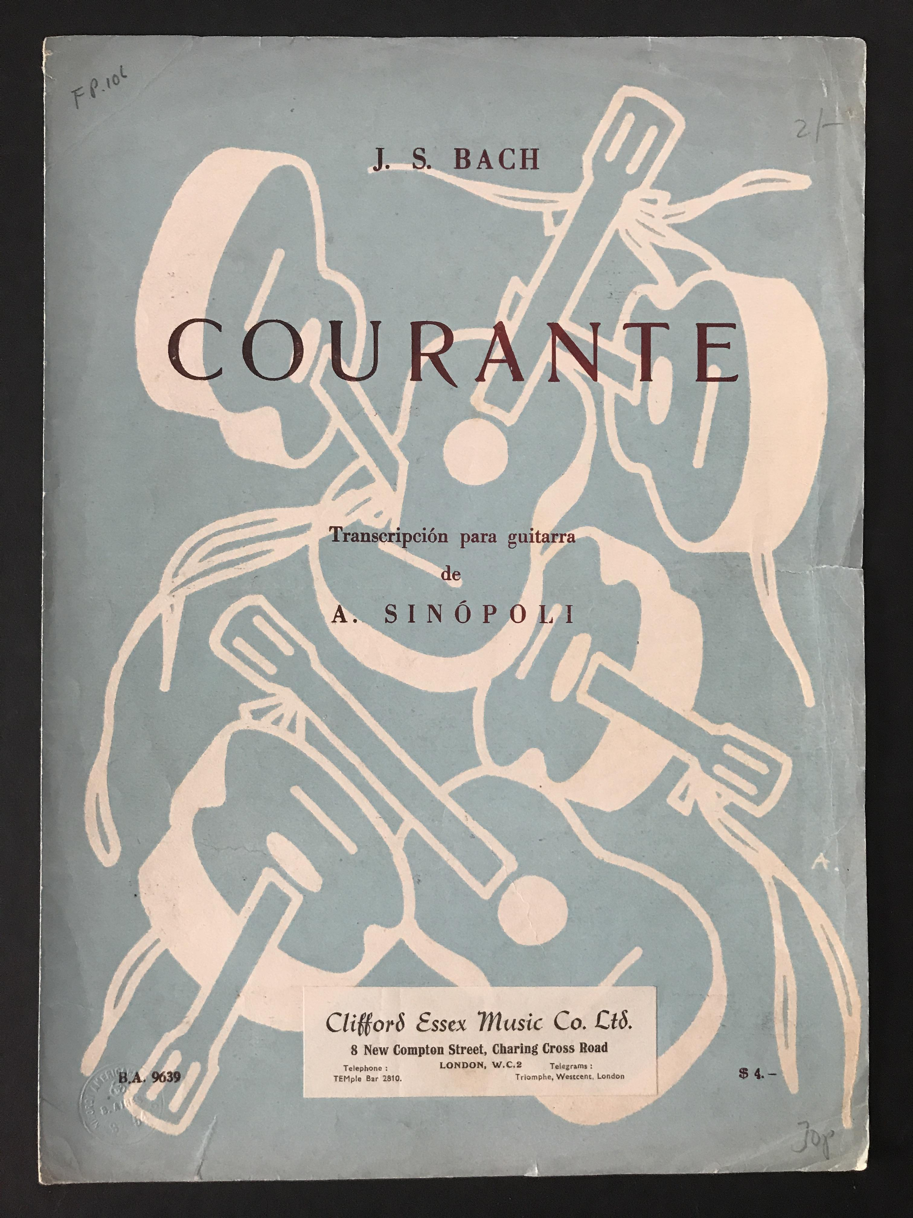 Courante by J. S. Bach