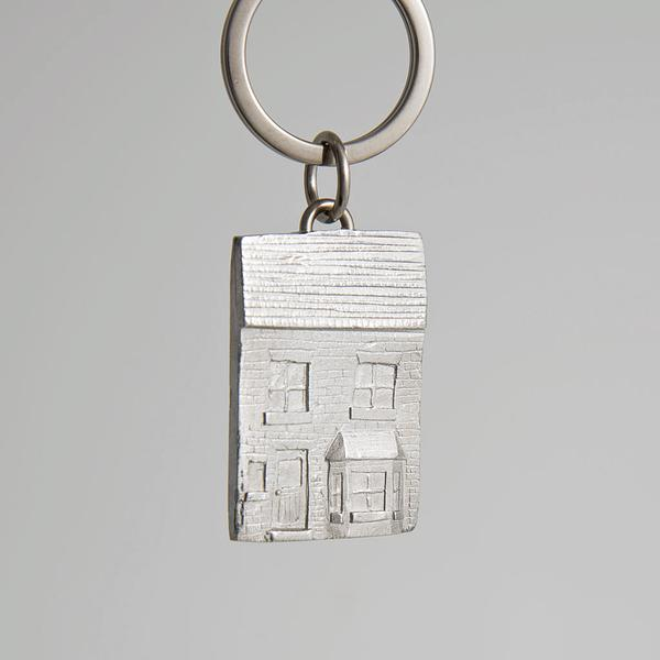 Pewter Key Ring - House