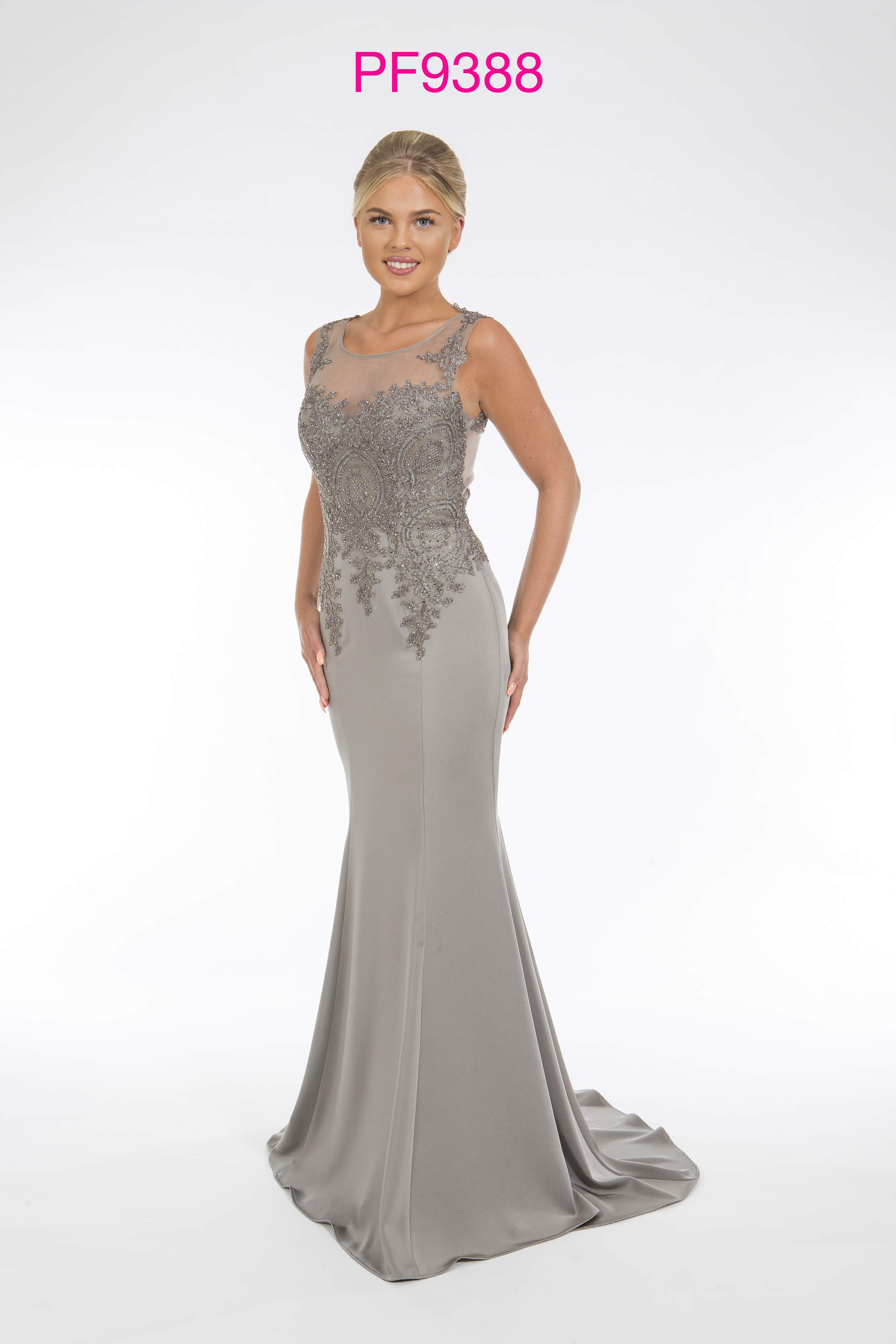 2f5edf3a1bd4 Light Blue Satin Evening Gown - Aztec Stone and Reclamations