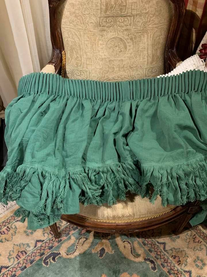 Large Green Cord Pencil Pleat Curtains W350 D305