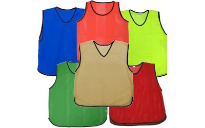 JUNIOR FOOTBALL TRAINING BIBS FOOTBALL NETBALL RUGBY HOCKEY CRICKET