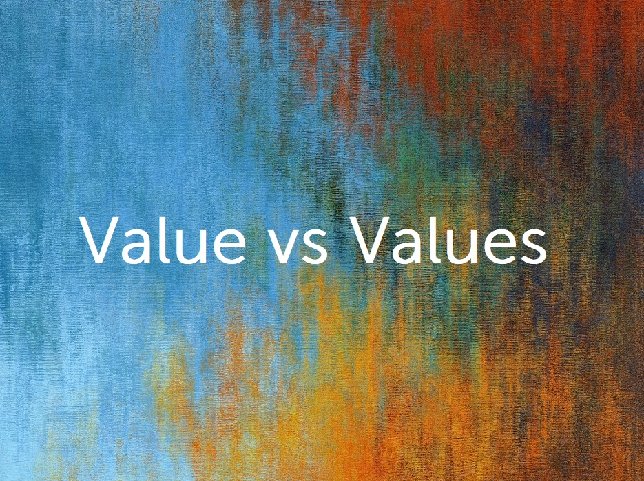 Value vs Values – are they really so different?