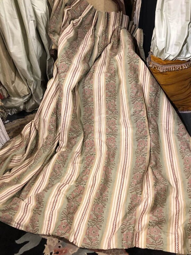 Lovely Colefax & Fowler Rye Stripe Curtains W284 D213