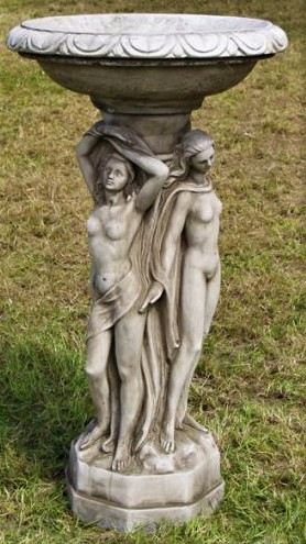 The Three Graces Bird Bath
