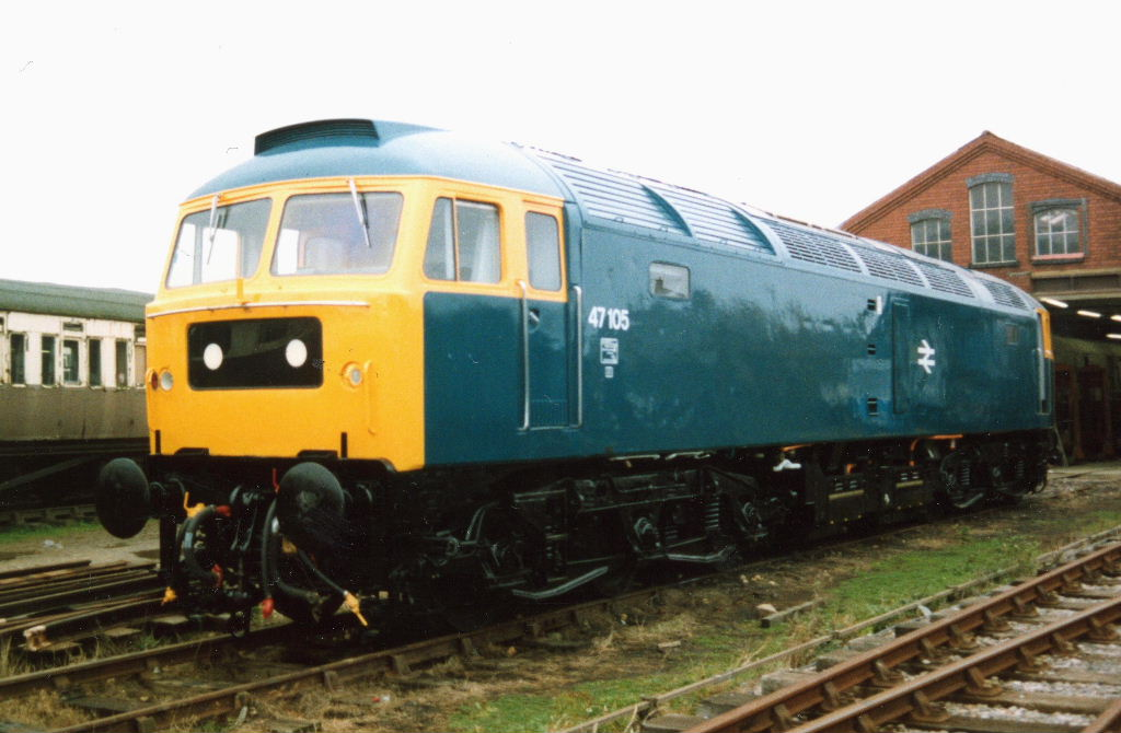 47105 rolled out of the paint shop at Winchcombe after the first repaint. Circa 1994  (Mark Elvey)