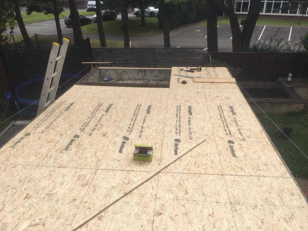 Preparing the base of a fibre glass garage roof