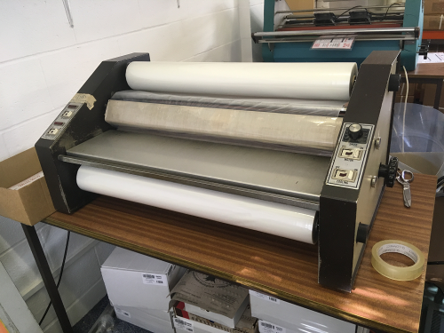 Say hello to one of our Laminating machines ...