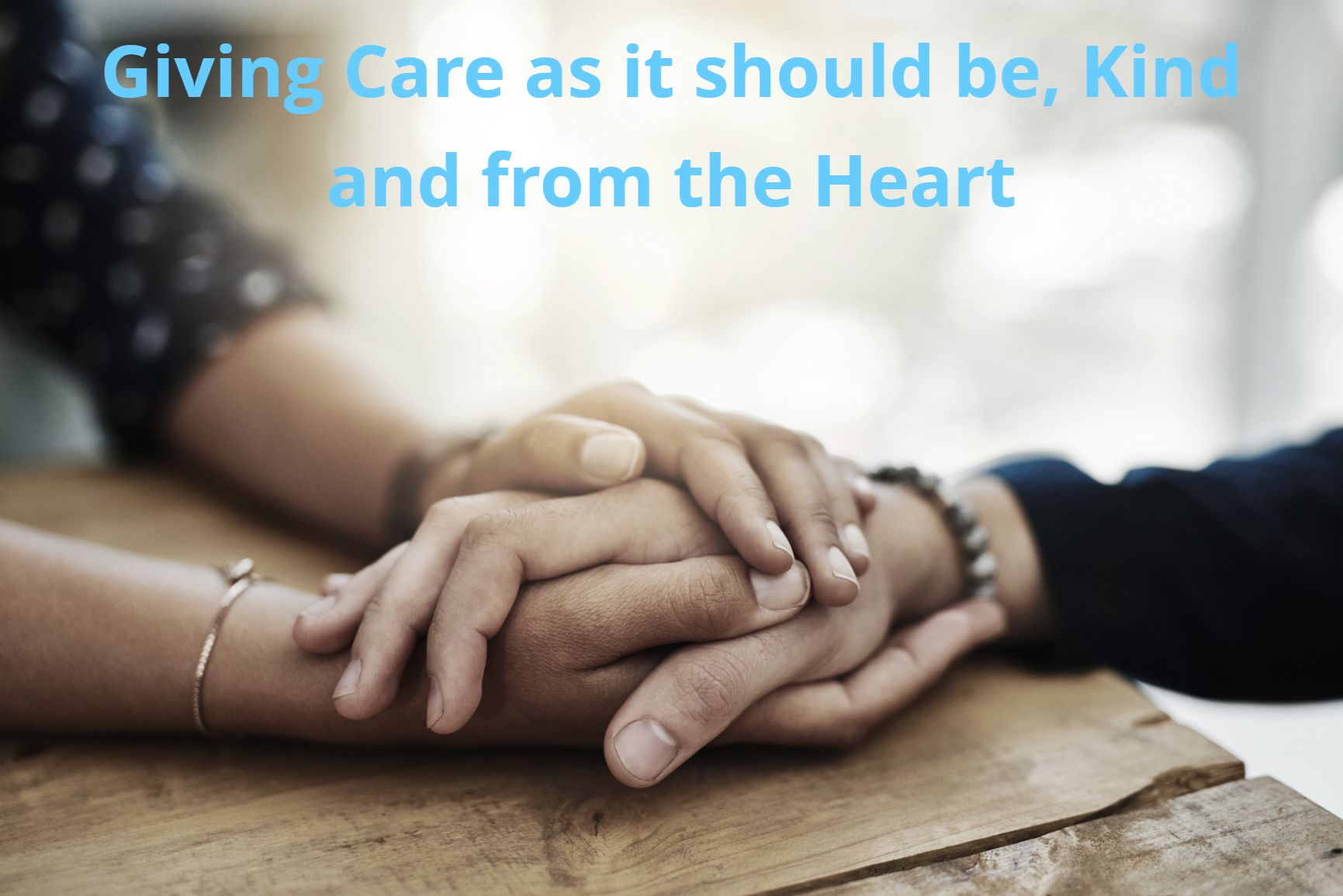 Kind Hearted Care Strap line