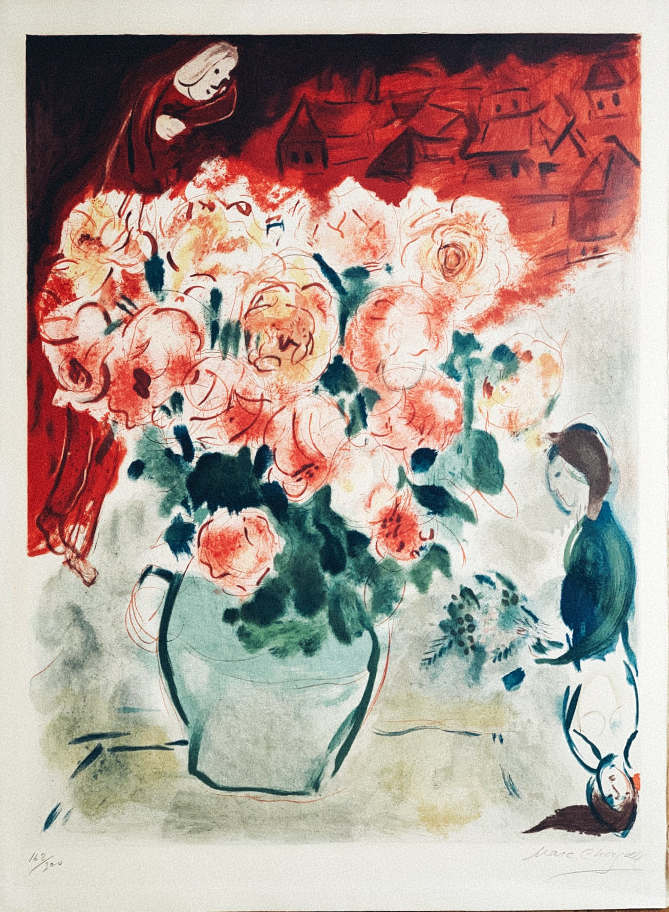 after Marc Chagall - Le Bouquet