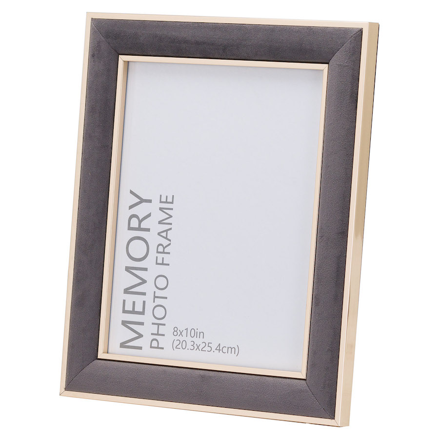 Grey Velvet Picture Frame - 8 x 10 inches
