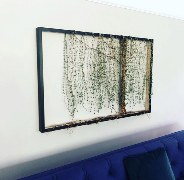 Willow Tree Wire Sculpture in a Black Frame
