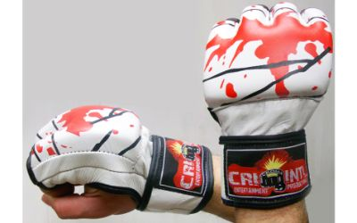 MMA UFC FIGHTING GLOVES WHITE /RED