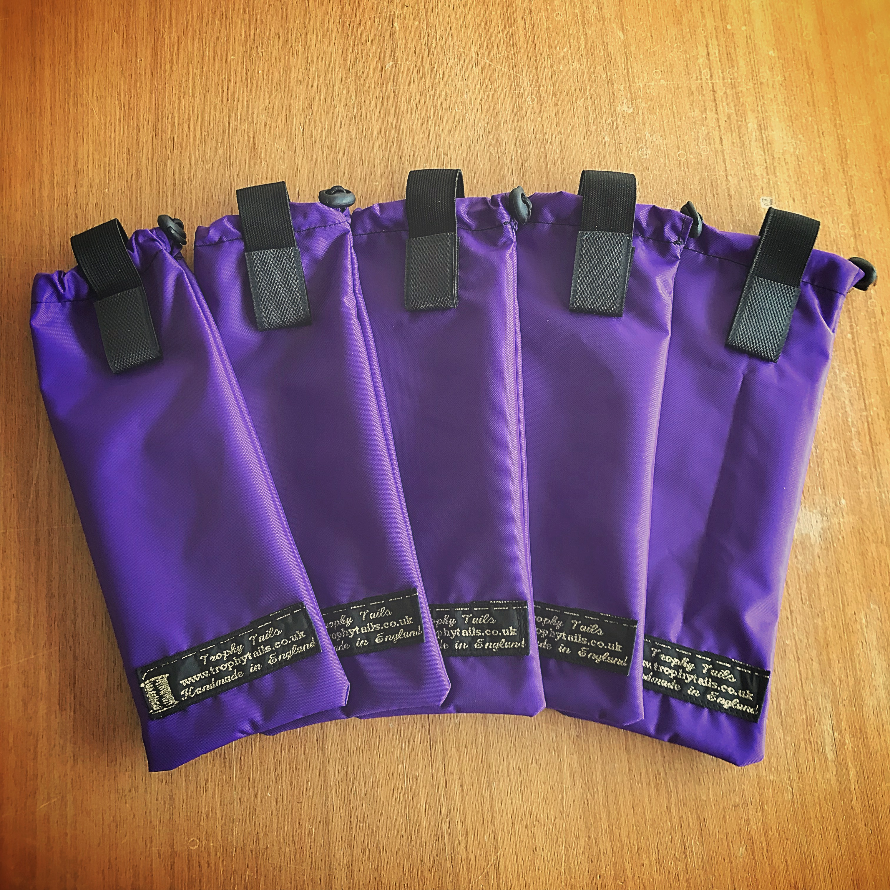 Heavy Duty Toggle Mane Bags Set Of 6 - Purple