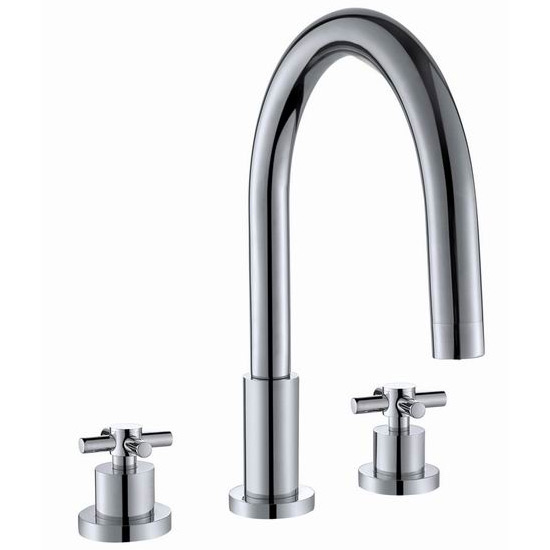 Cross 3 Tap Hole Basin Mixer Tap