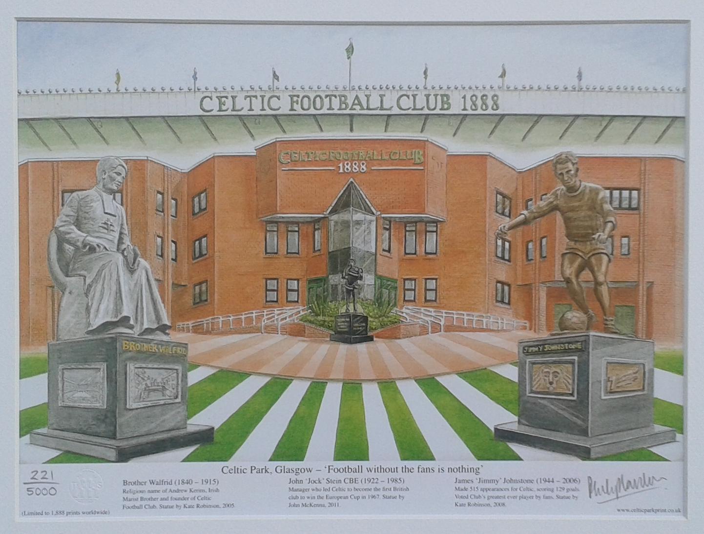 'Celtic Park - football without the fans is nothing' fine art print - unframed